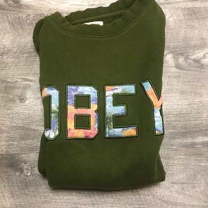 Green OBEY crewneck sweatshirt